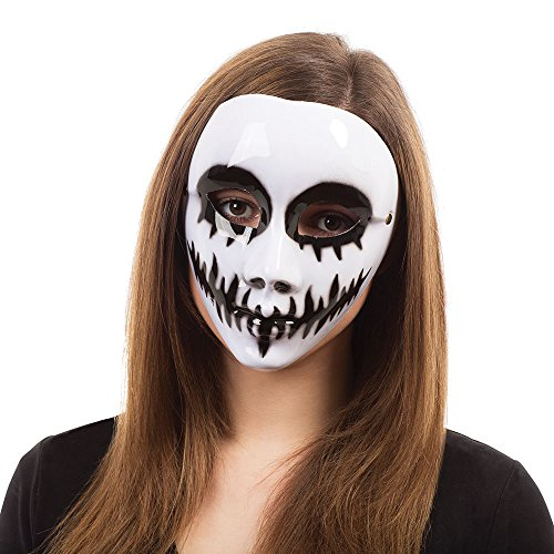 Bristol Novelty Venom Eye Maske Brille Rahmen, Pet, Polyester, Farbe, weiß, One Size
