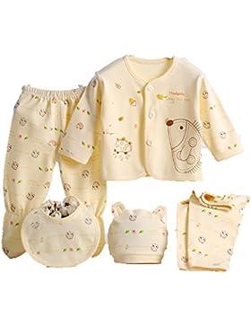 Baby Newborn 5PCS cotone abbigliamento set (Cap + bavaglino + pigiama + pantaloni) Infant Care Gift set abbigliamento...