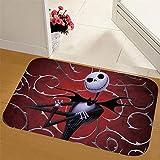 JUNDY Badematte Waschbar Badvorleger rutschfest Badteppich Teppich Für Badezimmer Küche Schlafzimmer Halloween Matte Antirutschmatte Farbe19 50 * 80cm