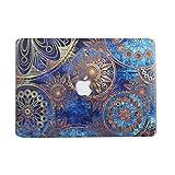 AQYLQ MacBook Schutzhülle/Hard Case Cover Laptop Hülle [Für MacBook Pro 13 Zoll – mit CD-Laufwerk: A1278] - Ultradünne Matt Plastik Gummierte Hartschale Tasche Schutzhülle, ZX-45 Blau