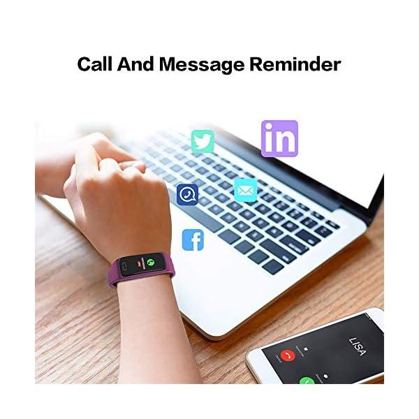 Pulsera de Actividad Inteligente Impermeable IP67 con 8 Modos de Deporte,Pulsera Inteligente con Pulsómetro, Blood Pressure, Sueño,Podómetro,Pulsera Deporte para Android y iOS Teléfono móvil 19