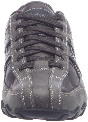 Skechers Detonated/Sting Rays, Chaussures à lacets homme Chocolat