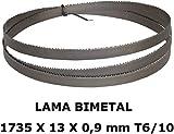 LAMA A NASTRO PER METALLI BIMETAL mm 1735X13X0.9 T6/10 SEGATRICI NEBES E MARCHI COMPATIBILI CATOCCIMACCHINE