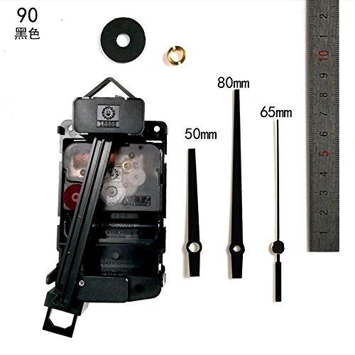Y-Hui Anti-Sec Dämpfer Motor Pfanne (DIY Quarz Uhren Wanduhr Teile Uhr Chip, 12Zoll (30,5cm) im Durchmesser, Motor + 9983Uhr Pin Schwarz (Dämpfer Motor)