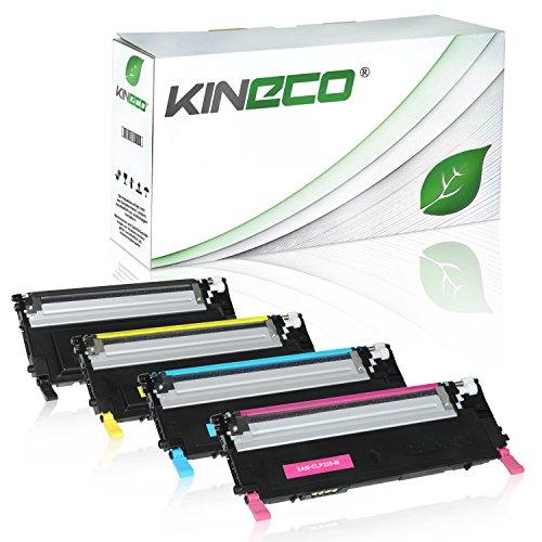 4 Toner kompatibel zu CLP-320 für Samsung CLP-325, CLX-3180, CLX-3185 - Schwarz...
