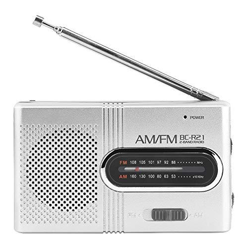DZSF Tragbares AM/FM-Radio mit Teleskopantenne Mini-Radioempfänger Stereo-Lautsprecherradios FM 88-108MHz, AM 530-1600KHz (Kind Radio Fm Am)