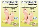 SamtFüssli - Hornhautsocke - Streichelzarte Füße mit nur einer Anwendung :: DOPPEL-Set