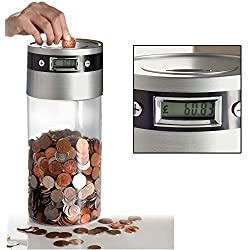 Hucha Grande con pantalla Cuenta Monedas