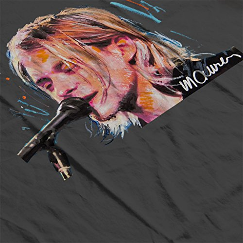 Sidney Maurer Kurt Cobain Singing Official Women's Sweatshirt Anthracite