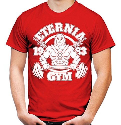 Uglyshirt89 Eternia Gym Männer und Herren T-Shirt | Skeletor He-Man Masters of The Universe Motu (Rot, ()