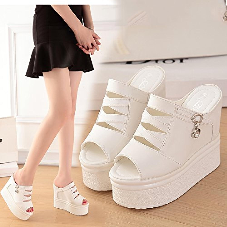 Qingchunhuangtang@@ Di Spessore, Antiscivolo Cool Trascinare e Tacco Alto Sandali,39, Bianco | Di Alta Qualità E Poco Costoso  | Sig/Sig Ra Scarpa