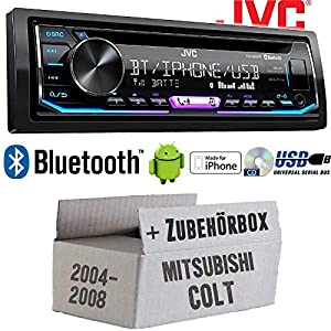Autoradio Radio JVC KD-R992BT - Bluetooth | MP3 | USB | Android | Multicolor - Einbauzubehör - Einbauset für Mitsubishi Colt bis 2008 - JUST SOUND best choice for caraudio