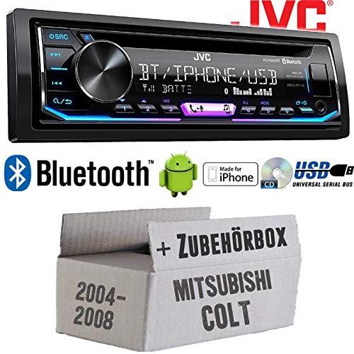 Autoradio Radio JVC KD-R992BT - Bluetooth | MP3 | USB | Android | Multicolor - Einbauzubehör - Einbauset für Mitsubishi Colt bis 2008 - JUST SOUND best choice for caraudio (Beste Radio)