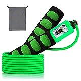 SZPLUS Corde à sauter pro fitness et crossfit Anti-dérapant Poignée Sauter Comptage, 3 m de câble léger facilement réglable (Vert)...