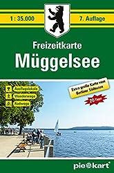 Freizeitkarte Müggelsee 1 : 35.000: Große Karte vom Berliner Südosten mit Ausflugstipps, Radwegen, Wanderwegen und Ausflugslokalen