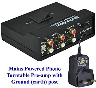 Electrovision Soundlab Eagle / DTL Phono Stereo Pre Amp with Ground (earth) Post - with Built-in RIAA Equalization - (Turntable Pre-amp so you can connect a vinyl record player with phono output to your HiFi Music Centre AUX connections) - MAINS POWER Op (B006IEPF8Y) | Amazon price tracker / tracking, Amazon price history charts, Amazon price watches, Amazon price drop alerts