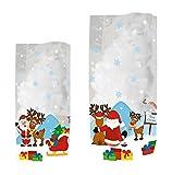 Ursus 5780000 - Geschenk Bodenbeutel Weihnachtsmann, 14,5 x 23,5 cm, 10 Stück, bunt