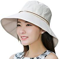 nikgic Mujer Protección Solar Sombrero Anti–UV sombrero de playa sombrero Gorros Pesca sombrero, beige