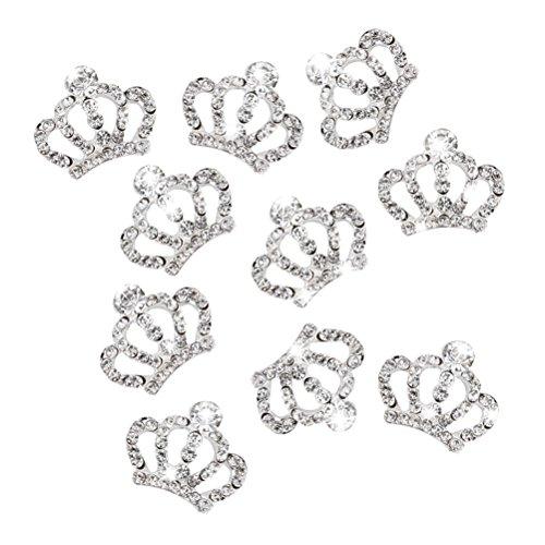 10 Piezas Adorno Diamantes de Imitación Cristal para Decoración de U