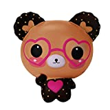 Vovotrade® Squishy Love Cute Verres Ours Parfumé Jumbo Charme Super Rising Squeeze Jouet Glasses Bear Scented Jumbo Charm Super Slow Rising Squeeze Toy (color)