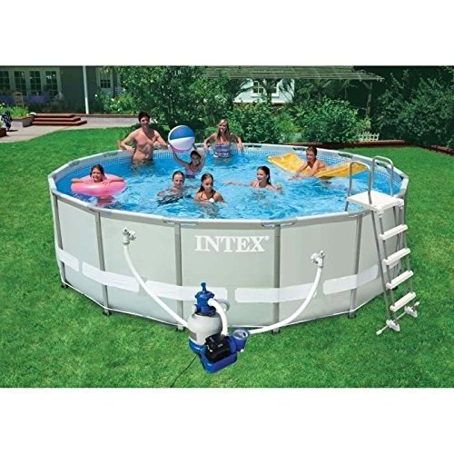 intex 28324 ultra rondo i frame pool set sandfilteranlage l h leiter abdeckplane. Black Bedroom Furniture Sets. Home Design Ideas