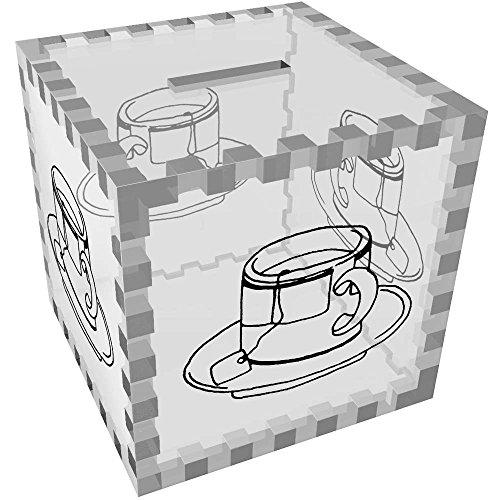 Azeeda 'Kaffeetasse' Klar Sparbüchse / Spardose (MB00063605)