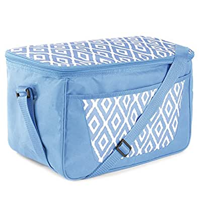 Large Family 26 Can 18 Litre Picnic - Cool Bag With Shoulder Strap Blue