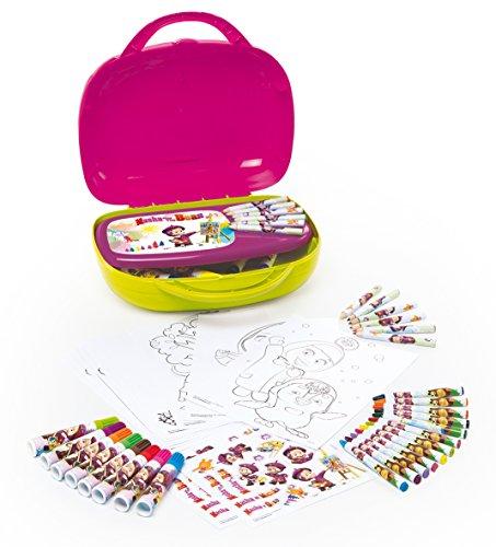 Smoby - 410801 - Masha et Michka - Jeu Créatif - Mallette D'Artiste - Accessoires Inclus