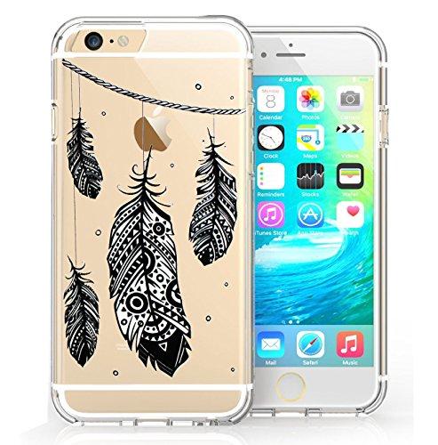 iPhone 6 6s Coque, FoneExpert® Très mince Etui Housse Coque Transparent TPU Gel Cover Case pour iPhone 6 6s (Color 5) Color 6