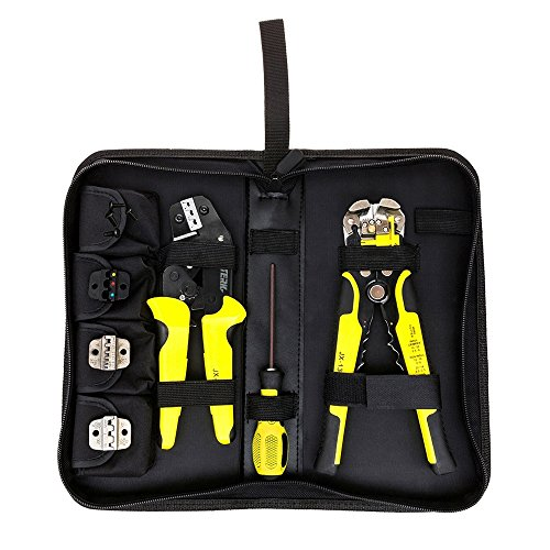 4 In 1 Wire Crimpers Engineering Ratcheting Terminal Crimping Pliers Bootlace Ferrule Crimper Tool Cord End Terminals With Wire Stripper -