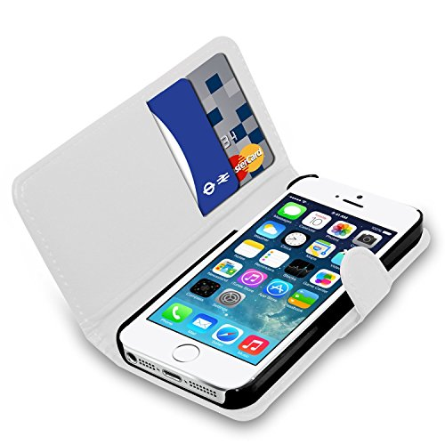 Apple iPhone 7 Plus - Ledertasche Flip Case Cover Tasche + Screen Protector & Poliertuch ( rot ) White