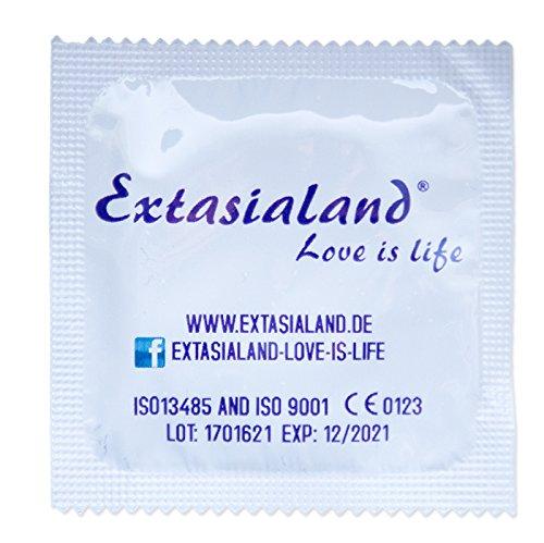 Extasialand Markenkondome 100 Kondome glatt und transparent im praktischen Sparpack Präservative