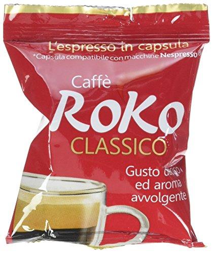 Caffè Roko Caspsule Nespresso Tostato - 100 Pezzi da 520 Gr