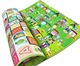 #8: Gison Baby Crawling Waterproof Double Side Baby Play Crawl Floor Mat for Kids -120 x 180cm (Multicolour)