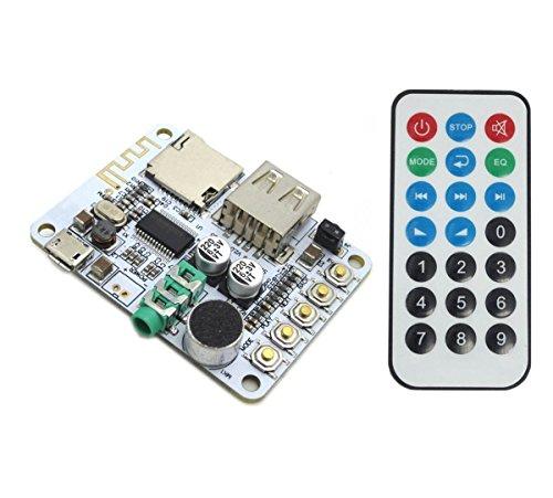 ARCELI Portable Wireless Bluetooth Audio Receiver Board mit Fernbedienung, Unterstützung USB Decording Play/Bluetooth Stereo Musiksender Modul für Kopfhörer HiFi Verstärker iPhone Heimkino