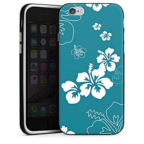 Apple iPhone X Silikon Hülle Case Schutzhülle Blumen Sommer blumenmuster Silikon Case schwarz / weiß
