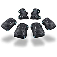 Kinder Protektorenset - Kind Junior Knieschoner Ellenbogenschützer Handgelenkschoner Schutzset für Teenager Erwachsene BMX Skateboard Inline Roller Skate Outdoor Sport Pad Set (Größe S)