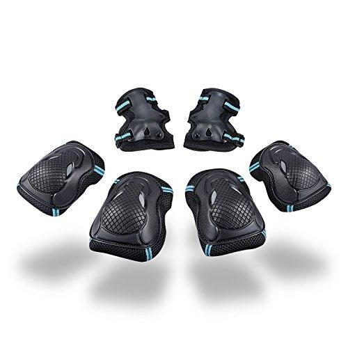 Kinder Schoner Set Protektorenset - Knieschoner Ellenbogenschützer Handgelenkschoner Schutzset für Teenager Erwachsene BMX Skateboard Inline Roller Skate Outdoor Sport Pad Set (Größe M)