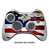 Xbox 360 Controller Designfolie Sticker - Vinyl Aufkleber Schutzfolie Skin für Xbox 360 Controller - Stars N Stripes