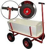 nxtbuy Chariot de Transport en Bois Robuste avec Roues pneumatiques 97 x 61 cm - Remorque à Main idéal pour Les campings, Concerts. - Charge: 100kg