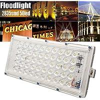 HKFV Aluminium 50 LED Flutlicht 220 V 50 Watt Landschaft Lampe LED Flutlicht For Outdoor Garden preisvergleich bei billige-tabletten.eu