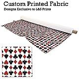 L&S PRINTS Spielkartenfarben rot & schwarz Design Digital