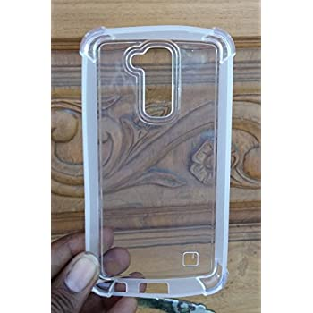 LG K10 case, Ziaon(TM) Shock Absorbing Back Cover Ultra Thin Hybrid TPU Case For LG K10 - Clear