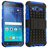 Rugged Dual Armour Kickstand back cover for Samsung Galaxy J2 color Blue