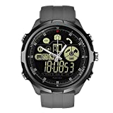 Smart Uhr 1,24 Zoll Telefon Sport Herren Wasserdicht Smartwatch iOS/Android Q5Y8 (Grau)