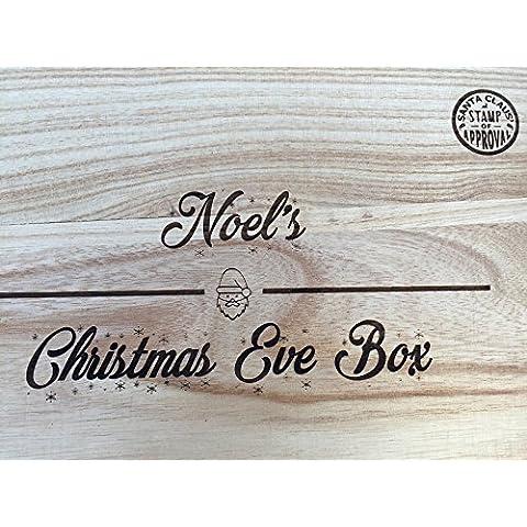 Personalised vigilia di Natale scatole–incisa al laser e Rifinito a mano