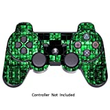 PlayStation 3 PS3 Controller Sticker - Aufkleber Schutzfolie Skin für Sony Playstation DualShock 3 Wireless Controller Green Digicamo