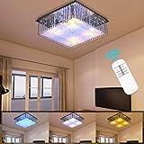 Hengda 40W LED Kronleuchter Kristall Deckenlampe Modern Deckenleuchte Pendelleuchte Energie Sparen für Wohnzimmer Küchen Schlafzimmer