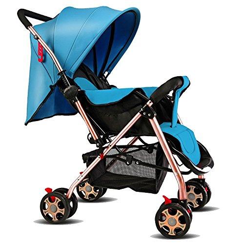 Los carros de los niños, los niños del bebé pueden sentarse pueden montar los carruajes del bebé, paraguas plegable portable ultra-ligero de dos vías del alto-visión, carruajes del bebé