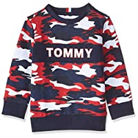 Tommy Hilfiger Boy's AOP Sweatshirt, Blue, 10 Years